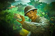 War diaroma in the Museum of Dien Bien Phu Victory, Dien Bien Phu, Muong Thanh Valley, Dien Bien Province, Vietnam, Southeast Asia