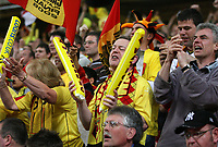 Photo: Rich Eaton.<br /> <br /> Leeds United v Watford. Coca Cola Championship. Play off Final. 21/05/2006.<br /> <br /> Watford fans celebrate James Chambers scoring Watfords first goal