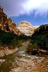 UT: Utah; Capitol Reef National Park, Capitol Dome from Fremont River   .Photo Copyright: Lee Foster, lee@fostertravel.com, www.fostertravel.com, (510) 549-2202.Image: utcapi205