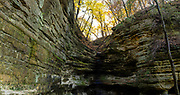 St. Louis Canyon/Starved Rock State Park, near Ottawa, Illinois, USA on a beautiful autumn day.