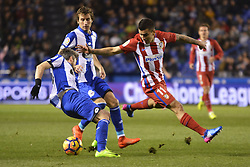 March 2, 2017 - La Coruna, Spain - Luisinho and Correa. La Liga Santander Matchday 25. Riazor Stadium, La Coruna, Spain. March 02, 2017. (Credit Image: © Monica Arcay Carro/VW Pics via ZUMA Wire/ZUMAPRESS.com)