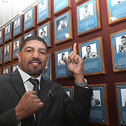 CANASTOTA, NY - JUNE 10:  Inductee Winky Wright poses at his plaque prior to the International Boxing Hall of Fame for the Weekend of Champions induction events on June 10, 2018 in Canastota, New York. (Photo by Alex Menendez/Getty Images) *** Local Caption *** Winky Wright