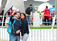 Fans soak up the atmosphere at the Champions Village<br /> <br /> Photographer Kevin Barnes/CameraSport<br /> <br /> UEFA Champions League Final - Training session - Juventus v Real Madrid - Friday 2nd June 2017 - Principality Stadium - Cardiff<br />  <br /> World Copyright © 2017 CameraSport. All rights reserved. 43 Linden Ave. Countesthorpe. Leicester. England. LE8 5PG - Tel: +44 (0) 116 277 4147 - admin@camerasport.com - www.camerasport.com
