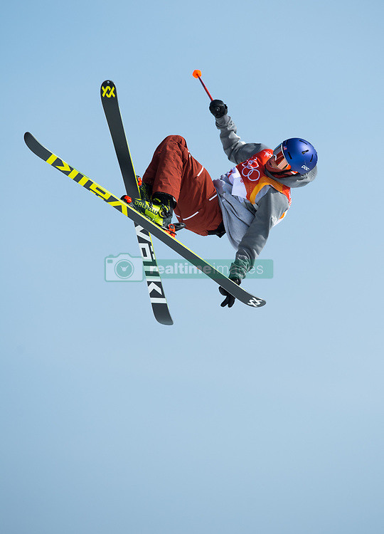 February 18, 2018 - Pyeongchang, South Korea - NICK GOEPPER of the United States competes in Mens Ski Slopestyle qualifications Sunday, February 18, 2018 at Phoenix Snow Park at the Pyeongchang Winter Olympic Games.  Goepper qualified for the finals.  (Credit Image: © Mark Reis via ZUMA Wire)