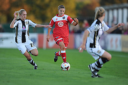 Bristol Academy Womens' Loren Dykes attacks down the wing. - Photo mandatory by-line: Alex James/JMP - Mobile: 07966 386802 - 04/10/2014 - SPORT - Football - Bristol - Stoke Gifford Stadium - Bristol Academy Womens v Notts County Ladies - Womens Super League