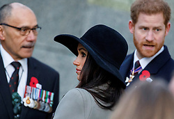 Prince Harry and Meghan Markle attend an Anzac Day Dawn Service at Wellington Arch, Hyde Park Corner, London, UK, on the 25th April 2018. Picture by Tolga Akmen/WPA-Pool. 25 Apr 2018 Pictured: Meghan Markle, Prince Harry. Photo credit: MEGA TheMegaAgency.com +1 888 505 6342