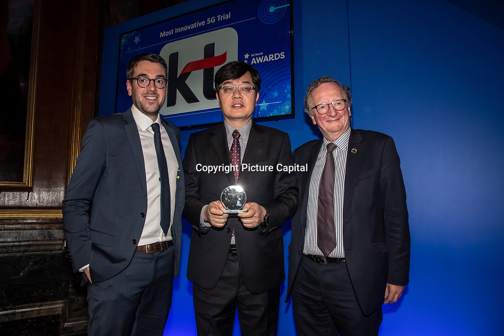 KT 5G winner of the Most Innovative 5G Trial of the 5G Awards ceremony at Drapers' Hall, on 12 June 2019, London, UK.