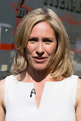 © Licensed to London News Pictures. 19/05/2014. London, England. Pictured: Sophie Raworth.  Press Day at the RHS Chelsea Flower Show. On Tuesday, 20 May 2014 the flower show will open its doors to the public.  Photo credit: Bettina Strenske/LNP