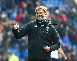 March 31, 2018 - London, Greater London, United Kingdom - Liverpool manager Jurgen Klopp celebrates they win.After the Premiership League  match between Crystal Palace and Liverpool at Wembley, London, England on 31 March 2018. (Credit Image: © Kieran Galvin/NurPhoto via ZUMA Press)