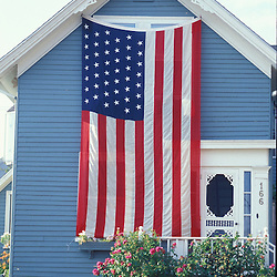 American Flag. Fourth of July. Portsmouth home.  Portsmouth, NH