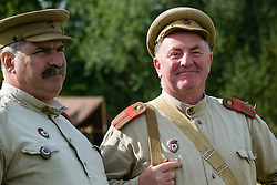 Soviets from the Red Army's  13th Guards Rifle Division at Crowle & Ealand 1940's weekend at 7 Lakes Country Park on Sunday<br /> <br />   24/25 September 2016<br />   Copyright Paul David Drabble<br />   www.pauldaviddrabble.photoshelter.com