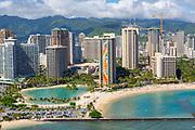 Hilton Hawaiian Village,  Rainbow Tower, Waikiki, Beach, Oahu, Hawaii