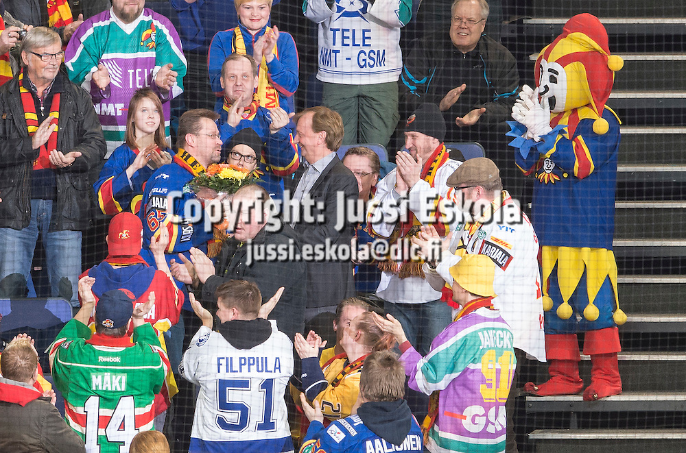 Pave, Hjallis Harkimo. Jokerit - Torpedo Nitzhny Novgorod. KHL. 21.2.2016. Photo: Jussi Eskola