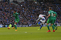 Football - 2018 / 2019 Premier League - Brighton and Hove Albion vs. Watford<br /> <br /> Yves Bissouma of Brighton gets a shot on goal at The Amex Stadium Brighton <br /> <br /> COLORSPORT/SHAUN BOGGUST