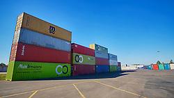 Containers no pátio da empresa Multi Armazéns, em Novo Hamburgo. FOTO: Jefferson Bernardes/Preview.com