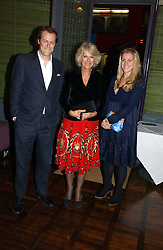 HRH THE DUCHESS OF CORNWALL and her son TOM PARKER BOWLES and daughter LAURA LOPES at a party to celebrate the publication of 'The year of Eating Dangerously' by Tom Parker Bowles held at Kensington Place, 201 Kensington Church Street, London on 12th october 2006.<br /><br />NON EXCLUSIVE - WORLD RIGHTS