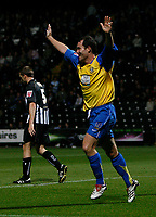 Photo: Steve Bond.<br />Notts County v Hereford United. Coca Cola League 2. 02/10/2007. Steve Guinan celebrates his first