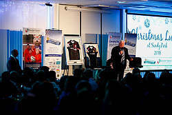 Tony Rowe OBE talks during the annual Exeter Chiefs Foundation Christmas Dinner at Sandy Park - Ryan Hiscott/JMP - 07/12/2018 - RUGBY - Sandy Park - Exeter, England - Exeter Chiefs Foundation Christmas Dinner with David Flatman