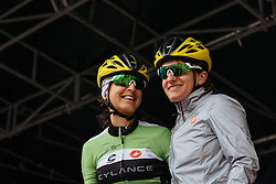 Italian duo, Valentina Scandolara and Rosella Ratto take to the stage in Ieper - Women's Gent Wevelgem 2016, a 115km UCI Women's WorldTour road race from Ieper to Wevelgem, on March 27th, 2016 in Flanders, Belgium.