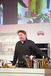 © London News Pictures. 12/04/2012. Gravesend, Kent. TV chef James Martin on stage at Glow, Bluewater. Opening day of the BBC Good Food Show Spring at Glow, Bluewater, Kent.  Photo credit should read Manu Palomeque/LNP.