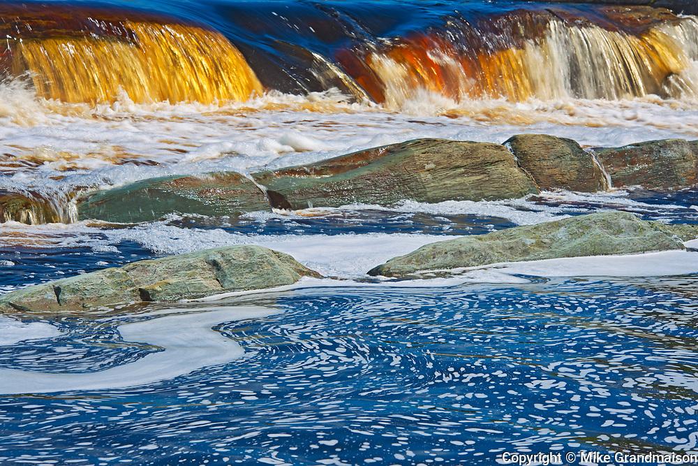 Rapids and waterfall on the Liscomb River, Liscomb Mills, Nova Scotia, Canada