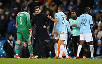 Football - 2017 / 2018 UEFA Champions League - Round of Sixteen, Second Leg: Manchester City (4) vs. FC Basel (0)<br /> <br /> Raphael Wicky manager of FC Basel  at The Etihad.<br /> <br /> COLORSPORT