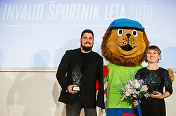 Darko Djuric and Tanja Glusic celebrate during Slovenian Disabled Sports personality of the year 2018 event, on December 11, 2018 in Austria Trend Hotel, Ljubljana, Slovenia. Photo by Vid Ponikvar / Sportida
