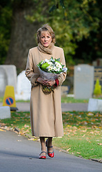 © Licensed to London News Pictures. 07/10/2014London, UK. Esther Rantzen arriving for the funeral of singer Lynsey de Paul in Hendon, North London Photo credit : Simon Jacobs/LNP