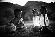 Boy with soccer ball, Leparsanty, MR#24, Ngurunit Village