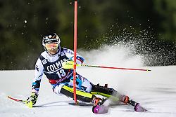22.12.2016, Canalone Miramonti Rennstrecke, Madonna di Campiglio, ITA, FIS Ski Weltcup, Madonna di Campiglio, Slalom, Herren, 1. Lauf, im Bild Marc Digruber (AUT) // Marc Digruber of Austria in action during 1st run of men's Slalom of FIS ski alpine world cup at the Canalone Miramonti race course in Madonna di Campiglio, Italy on 2016/12/22. EXPA Pictures © 2016, PhotoCredit: EXPA/ Johann Groder