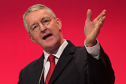 ©  London News Pictures . FILE PIC 28/09/2015 . Brighton , UK . HILARY BENN speaks at the 2015 Labour Party Conference . Reports have suggested that Hilary Benn might be moved from his position as  shadow foreign secretary in this weeks expected shadow cabinet reshuffle. Photo credit : Joel Goodman/LNP