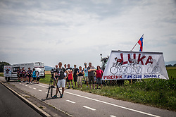 Supporters of Luka Pibernik during Stage 2 of 24th Tour of Slovenia 2017 / Tour de Slovenie from Ljubljana to Ljubljana (169,9 km) cycling race on June 16, 2017 in Slovenia. Photo by Vid Ponikvar / Sportida