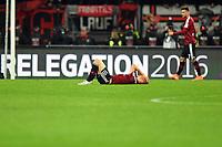 Fotball<br /> Tyskland<br /> Foto: Witters/Digitalsport<br /> NORWAY ONLY<br /> <br /> Hanno Behrens (Nuernberg)<br /> <br /> Nuernberg, 23.05.2016, Fussball Bundesliga, Relegation Rueckspiel, 1. FC Nürnberg - Eintracht Frankfurt 0:1