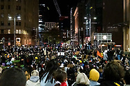 Protesters shout slogans and hold up signs at Martin Place during a 'Black Lives Matter' rally on 02 June, 2020 in Sydney, Australia. This event was organised to rally against aboriginal deaths in custody in Australia as well as in unity with protests across the United States following the killing of an unarmed black man George Floyd at the hands of a police officer in Minneapolis, Minnesota. (Photo by Lucca Markham/ Speed Media)