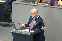 DEU, Deutschland, Germany, Berlin, 23.04.2021: Deutscher Bundestag, Elisabeth Motschmann (CDU) bei einer Rede in der Debatte zum Antrag von Bündnis 90/Die Grünen zur besseren Absicherung von Solo-Selbstständigen in der Kultur- und Kreativwirtschaft.