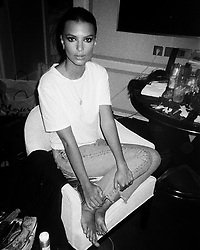 """Emily Ratajkowski releases a photo on Instagram with the following caption: """"B\u0026W film came in \ud83d\udda4"""". Photo Credit: Instagram *** No USA Distribution *** For Editorial Use Only *** Not to be Published in Books or Photo Books ***  Please note: Fees charged by the agency are for the agency's services only, and do not, nor are they intended to, convey to the user any ownership of Copyright or License in the material. The agency does not claim any ownership including but not limited to Copyright or License in the attached material. By publishing this material you expressly agree to indemnify and to hold the agency and its directors, shareholders and employees harmless from any loss, claims, damages, demands, expenses (including legal fees), or any causes of action or allegation against the agency arising out of or connected in any way with publication of the material."""