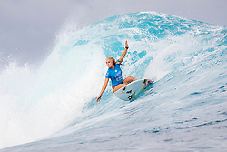 Tatiana Weston-Webb of Hawaii placed runner-up to Courtney Conlogue of the US  in a history making final at the Outerknown Fiji Women's Pro in excellent conditions at Cloudbreak, Fiji.