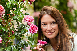 © Licensed to London News Pictures. 03/06/2016. London, UK. BBC TV gardener, Rachel De Thame, at the second annual London Rose Show, hosted by the Royal Horticultural Society, which opened today at the Horticultural Halls in Victoria, where rose growers are showing off their latest blooms. Photo credit : Stephen Chung/LNP