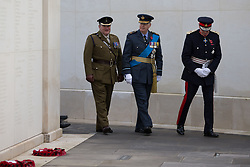 Prince Richard, Duke of Gloucester (centre) at the Armistice Day service at the War Memorial Arboretum, in Staffordshire.