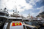 May 21, 2014: Monaco Grand Prix: Yachts in Monaco harbor