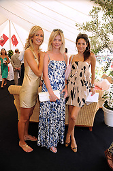 Left to right, LADY VICTORIA HERVEY, the COUNTESS OF MORNINGTON and ASTRID MUNOZ at the Cartier International Polo at Guards Polo Club, Windsor Great Park on 27th July 2008.<br /> <br /> NON EXCLUSIVE - WORLD RIGHTS
