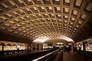 The nation's capitol, Washington, DC.<br /> Inside view of Washington, DC's Metro Station.
