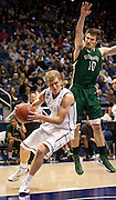 BYU guard Tyler Haws (3) evades E. New Mexico guard Kyle Lantz (10) during the first half of the NCAA basketball game between the BYU Cougars and the Eastern New Mexico Greyhounds at the Marriott Center, Tuesday, Dec. 18, 2012.