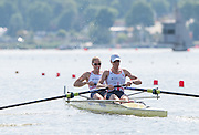 Poznan. Poland. GBR W2-. Bow Helen GLOVER and Heather STANNING, FISA 2015 European Rowing Championships. Venue Lake Malta. 29.05.2015. [Mandatory Credit: Peter Spurrier/Intersport-images.com] .   Empacher.