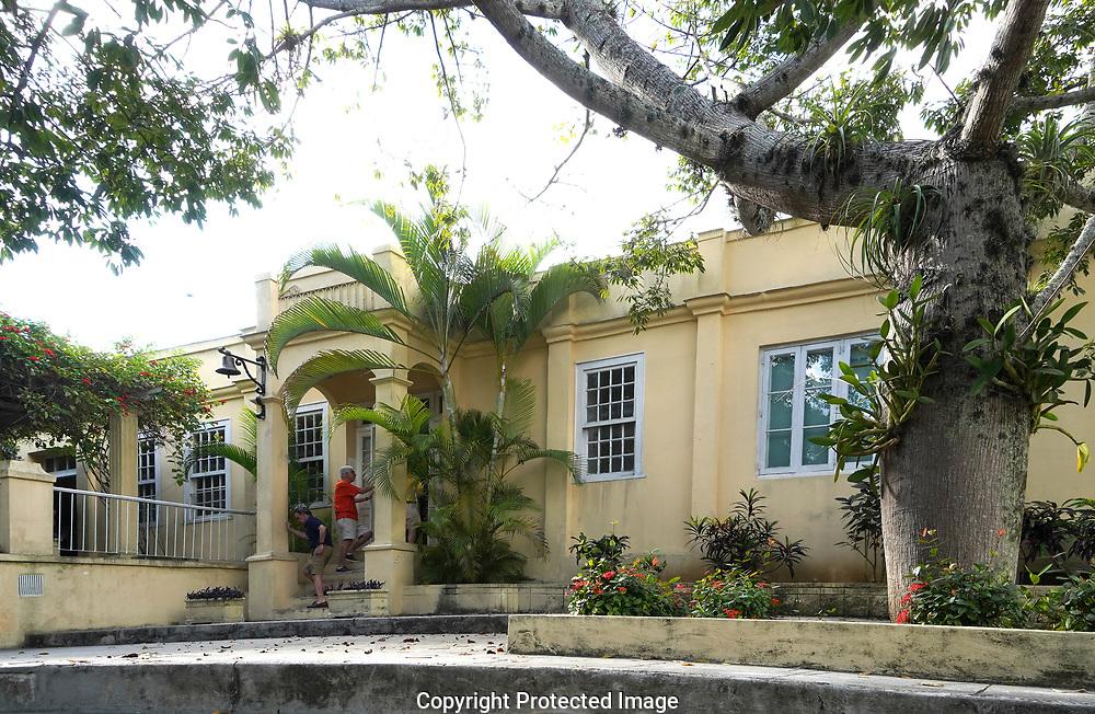 Havana, Cuba 2019/01/14  The front of Finca Vigía, the home of Ernest Hemingway in San Francisco de Paula Ward in Havana, Cuba<br /> Photo by Dennis Brack