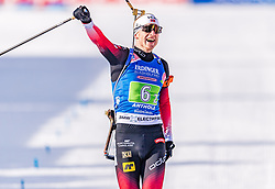 20.02.2020, Suedtirol Arena, Antholz, ITA, IBU Weltmeisterschaften Biathlon, Single Mixed Staffel, im Bild Johannes Thingnes Boe (NOR) // Johannes Thingnes Boe of Norway during the Single mixed relay of IBU Biathlon World Championships 2020 at the Suedtirol Arena in Antholz, Italy on 2020/02/20. EXPA Pictures © 2020, PhotoCredit: EXPA/ Stefan Adelsberger