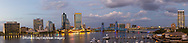 63412-01014 St. Johns River and Jacksonville Florida skyline at twilight Jacksonville, FL