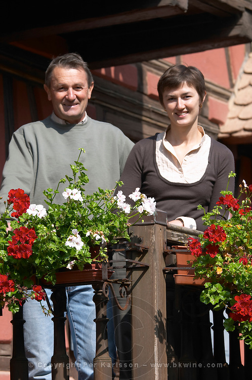Melanie Pfister and her father Andre Pfister owner dom pfister dahlenheim alsace france