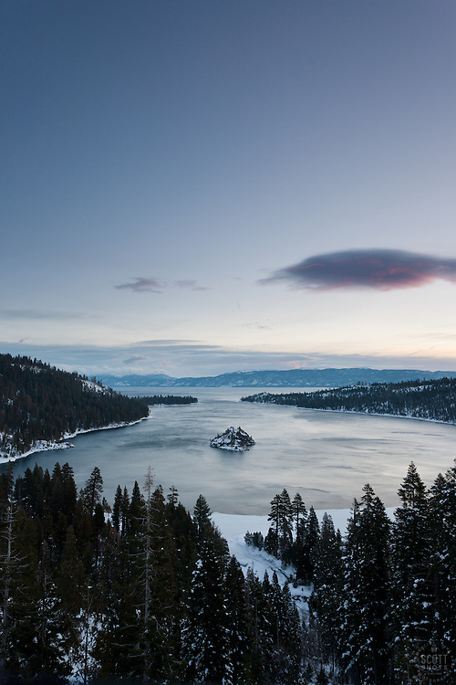 """""""Emerald Bay Sunrise 11"""" - This sunrise was photographed from the world famous Emerald Bay in Lake Tahoe, CA."""