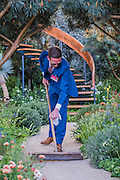 The wintons Beuaty of Mathematics Garden by Nick Bailey (pictured making final preparations..